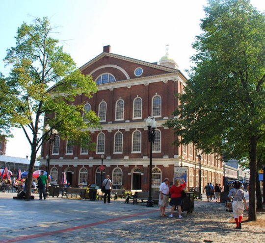 Faneuil Hall in downtown Boston