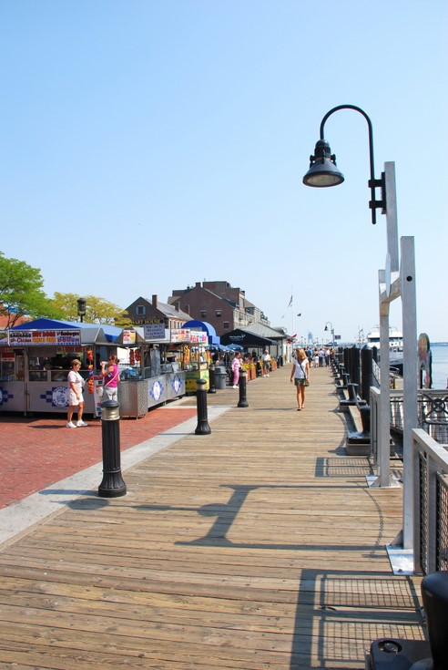 Boston's Long Wharf on a nice summer day